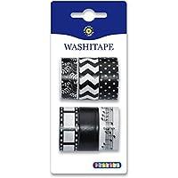 Playbox 2471135Washi tape, nero/bianco