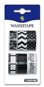 (PBX2471135) - Playbox - Washi Tape 6 Pcs, Black and White