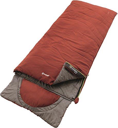 Outwell contour sacco a pelo, unisex, 230228, ochre red, 225 x 90 cm