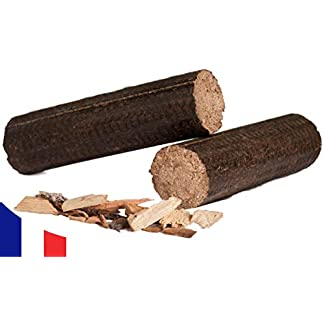 Briquetas de Madera 100% Dura – Largas Leñas de Madera – 24 kg