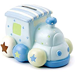 Mousehouse Gifts - Hucha infantil con forma de tren - Unisex