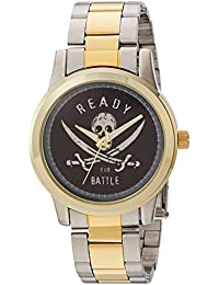 Disney Men's 'Pirates' Quartz Metal and Stainless Steel Casual Watch, Color:Two Tone (Model: WDS000375)