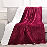 Electric Blanket Heated Throw Flannel & Lambswool Blanket Fast Heating with 6 Levels