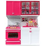 AKSH Dream House Kitchen Set Kids Luxury Battery Operated Kitchen Super Set Toy With Light And Sound Carry Case (KITCHEN2 PC)