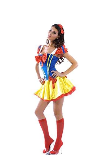 EOZY Babydolls Schneewittchen Kostüm Dessous Damenkostüm Petticoat Karneval Halloween