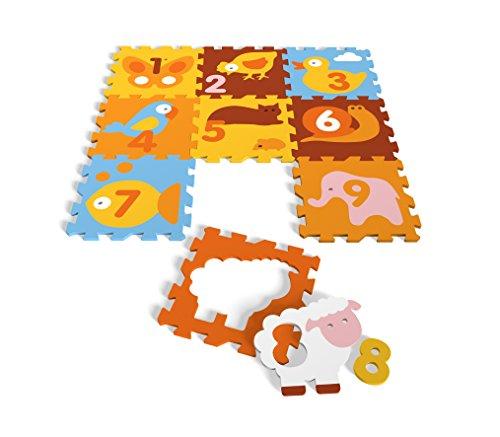 Tatamiz - Schaumstoff Puzzle Teppich mit Tiere und Zahlen - TTMZ110