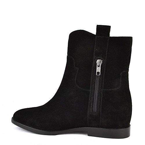 Ash Chaussures Jane Boots a Talon Noir Femme Noir
