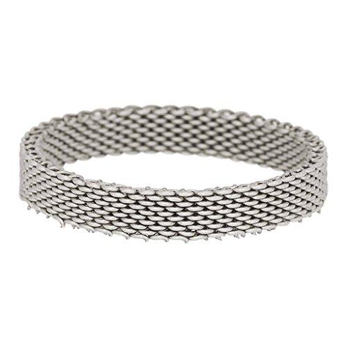 iXXXi Füllring MESH silber - 4 mm Größe Ringgröße 21 -
