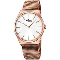 Lotus 18286_1 - Reloj Analógico Para Mujer, color Blanco/Rosa