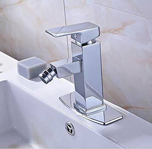 Heiße und kalte Einwegbatterie der Bidetarmatur drehen Waschbecken Waschbecken Waschbecken auf der Abdeckung des Badezimmers für den Chromhahn