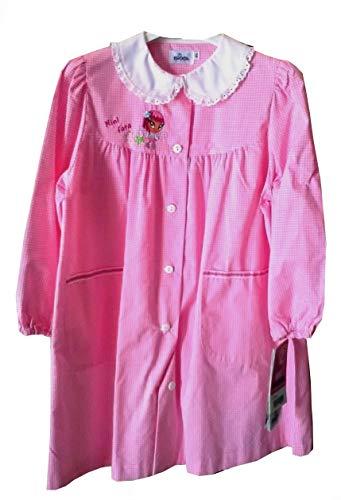 Siggi grembiule anastasia scuola scuola materna bambina bianco/rosa 6-7 anni (70 7 anni)