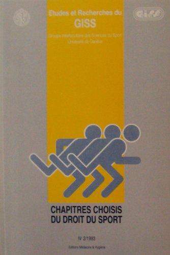 Chapitres choisis du droit du sport N°2/1993