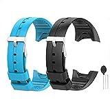 WEINISITE Silicone Ajustable Remplaçant Bracelet Pour Polar M400/M430 GPS Montre intelligente (Noir+Bleu)