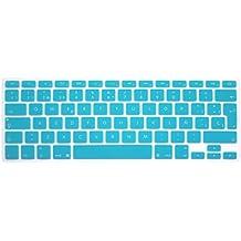 """Wayes - española Cubierta del teclado / Keyboard Cover para MacBook Pro 13"""" 15"""" 17"""" & Air 13"""" EU/ISO Disposición Silicone / Silicona Skin (Distribución del teclado de la UE / ISO) - Turquesa"""