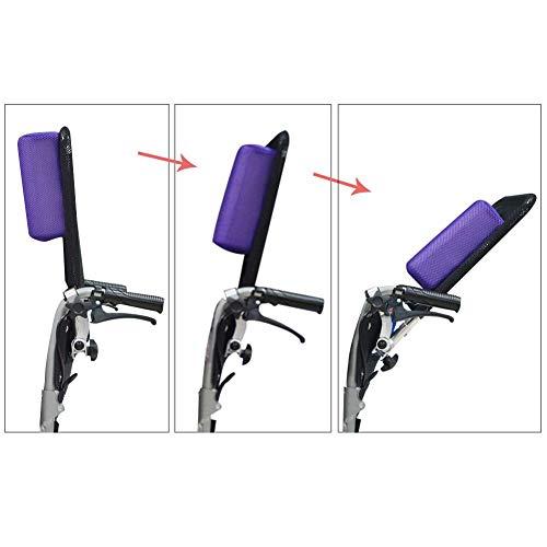 4132u1AXl2L - Juanya Almohada ajustable para reposacabezas de silla de ruedas con tubo de mango trasero, soporte para el cuello de 16 a 20 pulgadas, color negro