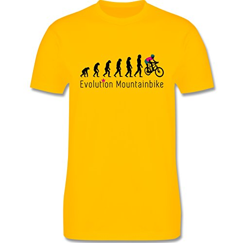 Evolution - Mountainbike Evolution - Herren Premium T-Shirt Gelb