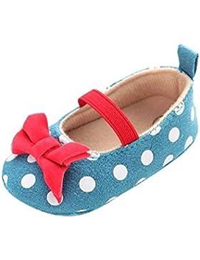 Bebé Prewalker Zapatos Auxma Baby Dot Butterfly antideslizante zapatos de niño suave,Princesa Zapatos para 0-6...