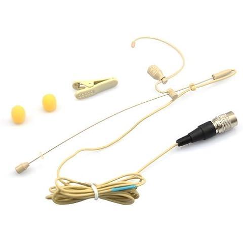 YPA ME2-C4T auricular con micrófono para Audio Technica individual-ear micrófonos inalámbricos