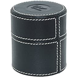 SWISS REIMAGINED Genuine Leather Cylindrical Loupe Holder / Fine Jewellery Storage/Travel Case