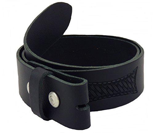 Gürtel Wechselgürtel Westerngürtel Echt Leder schwarz punziert G.75-135 (115)