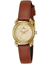 Titan Analog Gold Dial Women's Watch -2534YL04