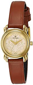 Titan Analog Gold Dial Women's Watch-2534YL04