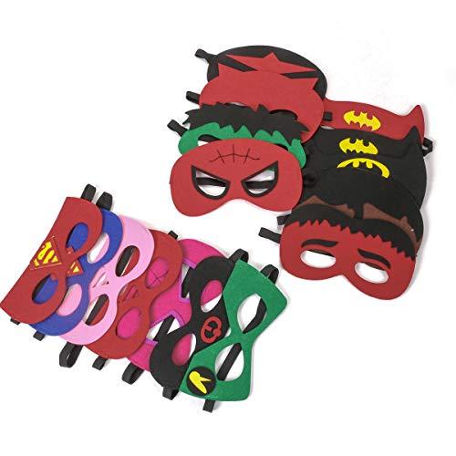 4132vR4RZ7L - URAQT Mascaras Superheroes, Máscaras para Niños, Máscaras Disfraz Superheroes Niños, Máscaras para Niños, Superheroes Party Máscaras, para Niños Mayores de 3 Años -16 Piezas