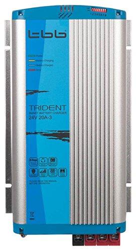 Trident BP2420-3A 24V/20A/3 Ausgänge, Batterie Ladegerät mit 3m Kabel und Temperatur Sensor