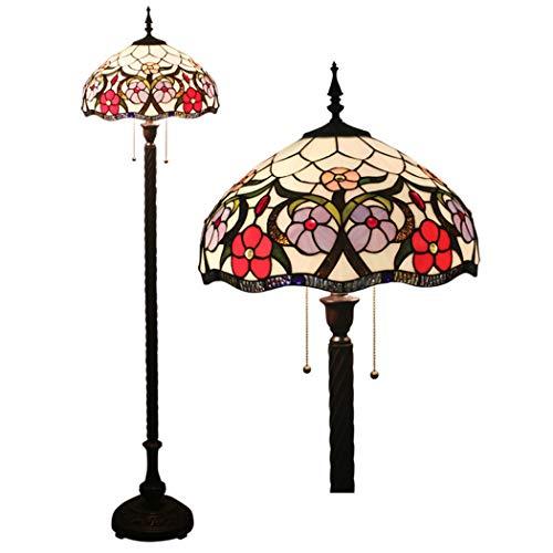 W&HH Tiffany-Stil Stehlampe, 16-Zoll-Barock handgefertigte Glasmalerei Stehlampe, europäische...