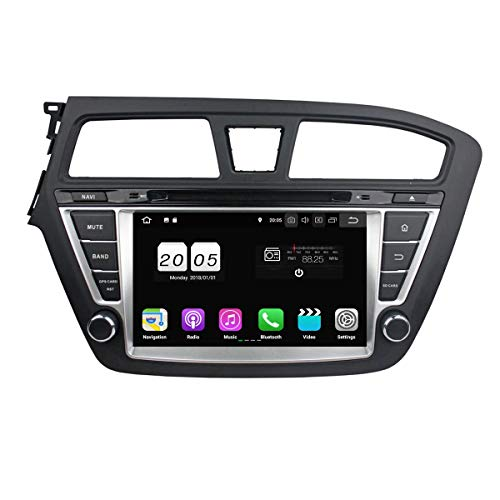 re 1.5G CPU Android 8.1 OS Autoradio für Hyundai I20(2014-2015) Linkslenker,DAB+ Radio kapazitiver Touchscreen mit 16G Flash und 2G DDR3 RAM GPS Navi Radio DVD Player 3G/WiFi ()