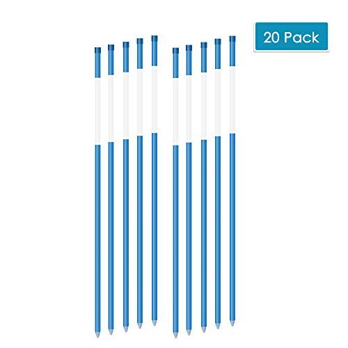 ViHi Auffahrtmarker, Schneestecker Solide Auffahrt-Reflektoren, 61 cm, 5/16 Zoll Durchmesser, Blau, 20 Stück