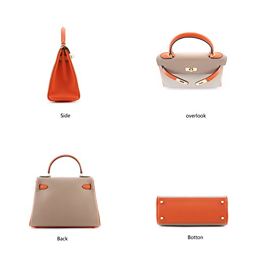 Macton ,  Damen Tasche 28CM-Grey+Orange+Grey
