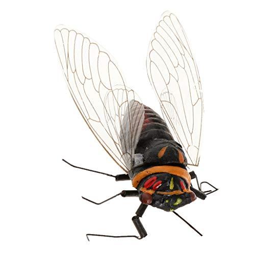 FLAMEER Modèle Insectes Simulés Sculptures Miniatures Animaux realistes - Cigale