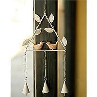 PanpA Sostenible Colgante triángulo Forma de Pájaro Sun Catcher Ventana Colgante de Pared Decoración para Regalos (Blanco)