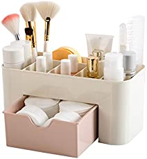 Panzl Plastic Cosmetic Storage Box Organizers (Colour May Vary)