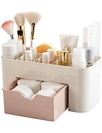 Panzl Petrice Multi Functional Plastic Drawer Makeup Organizer (Multicolour)