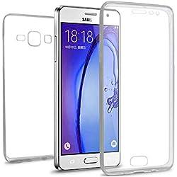 AURSTORE Coque Samsung Galaxy G530 (Grand Prime) - Protection intégrale Avant + arrière en Rigide, Housse Etui Tactile 360 degré - Antichoc, Transparent G530 (Grand Prime)