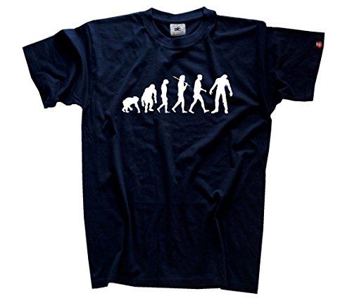 bie I Fasching Halloween Evolution T-Shirt Navy XXL (Apocalypse Kostüme)