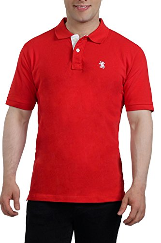 The Cotton Company Men's Luxury Polo Tshirts- Red