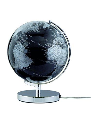 emform Tischglobus Terra Black Light, Metall & Kunststoff, 250 x 320 mm, beleuchtet