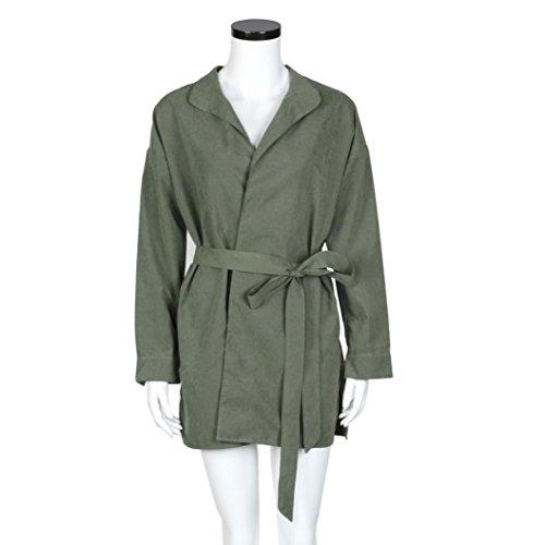 Zolimx Mode Frauen Dünne Jacke Windbreaker Outwear Wolljacke Mantel - 6