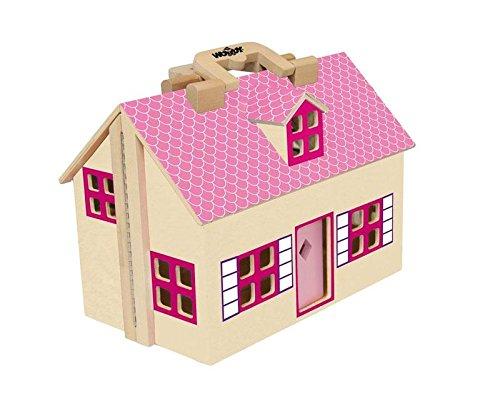 Woodyland Juego de imaginación Fold Trendy and Go Doll House Set (11...