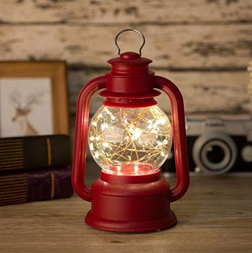 Lámpara de queroseno retro, luz nocturna, árbol de fuego, flor de plata, luz de noche, lámpara de aceite casera