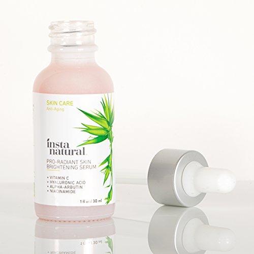 InstaNatural Siero per Viso Vitamin C - Migliore Illuminazione della Pelle & Combinazione Anti Età - Con Acido Ialuronico al 20%, Niacinamide & CoQ10 - Riduce le Rughe, le Linee Sottili & Altro - 1 OZ