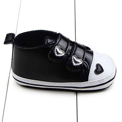 Hunpta Neue jungen Lauflernschuhe Infant Girl weiche Sohle Krippe Schuhe Sneaker Babyschuhe (11, Rot) Schwarz