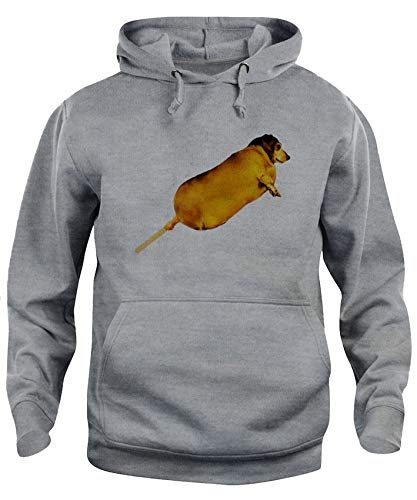 Felpa Cappuccio Unisex Corn Dog Bastoncino di Cane Divertente-Animali XS Grigio