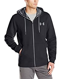 Under Armour Ua Rival Cotton Full Zip 1302290-001, Sudadera para Hombre, Negro, M
