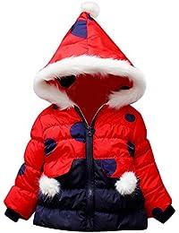 Algodón Abrigo para Niños,JiaMeng Abrigo de Dibujos Animados Chaqueta de Capa Gruesa Ropa de Abrigo Abrigos cálidos