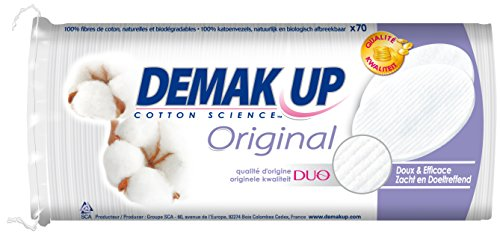 Demak'Up Original - Coton à démaquiller Ovale - lot de 3 paquets de 70 cotons