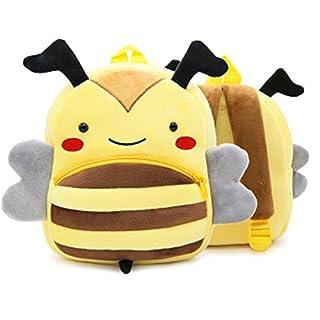 GXY - Sac à dos Enfant Anti-perte Forme animale mignonne en Peluche Mini - sacs d'école maternelle pour garçons filles de 2-4 ans (abeille)